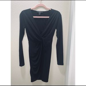 Mini Wrap Black Dress